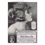 Ethel Clayton 1919 Mascara Ad Greeting Card