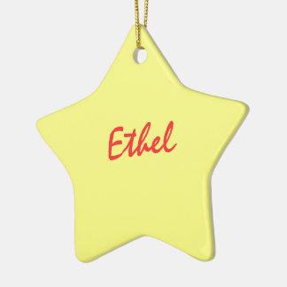 Ethel ornament