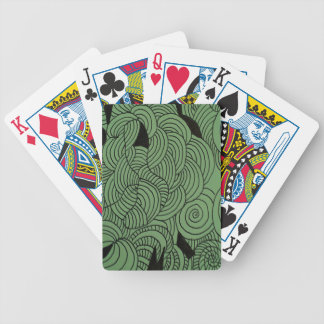 Ether Formation Green Bicycle Playing Cards