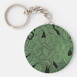 Ether Formation Green Key Ring