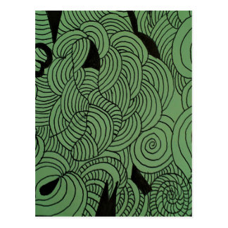 Ether Formation Green Postcard