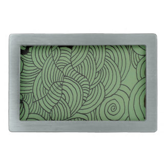 Ether Formation Green Rectangular Belt Buckles