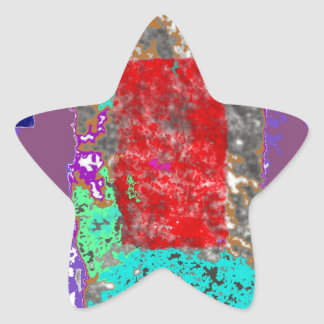 Ethereal Abstract Expressionism Design Star Sticker