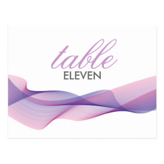ETHEREAL CHIC TABLE NUMBERS POST CARD
