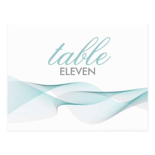 ETHEREAL CHIC | TABLE NUMBERS POSTCARDS