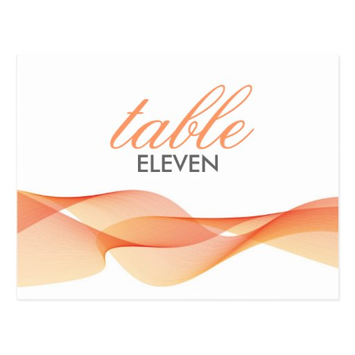 ETHEREAL CHIC | TABLE NUMBERS POSTCARD