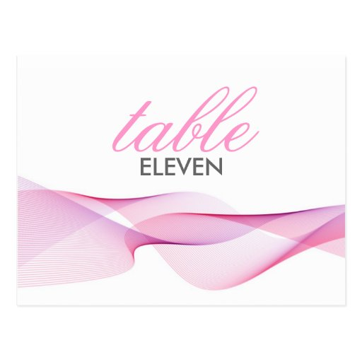 ETHEREAL CHIC | TABLE NUMBERS POST CARD