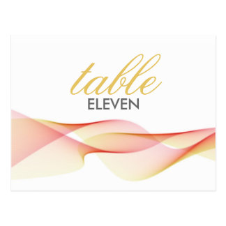 ETHEREAL CHIC TABLE NUMBERS POST CARDS