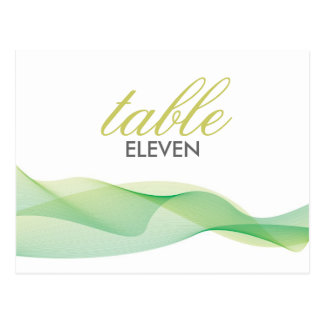 ETHEREAL CHIC TABLE NUMBERS POSTCARD