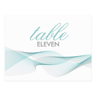 ETHEREAL CHIC TABLE NUMBERS POSTCARDS