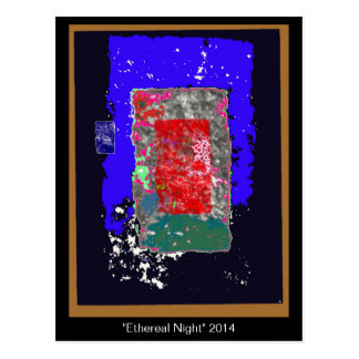 Ethereal Night Abstract Potcard Postcard
