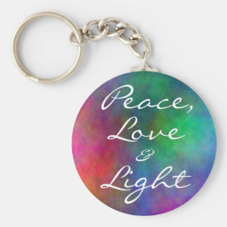 ethereal- Peace, Love, &, Light Basic Round Button Key Ring
