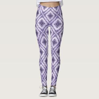 Ethereal Purple and Lavender Diamond Pattern Leggings
