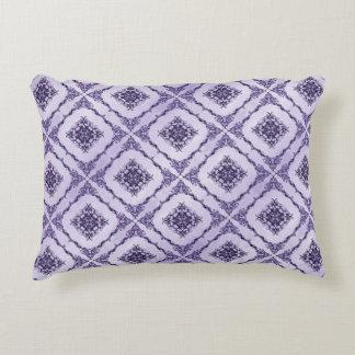 Ethereal Purple and Lavender Fractal Design Decorative Cushion