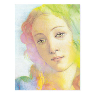 Ethereal Venus with Watercolor Hair Postcard