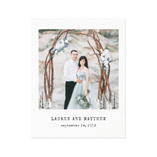 Ethereal Wedding | Photo and Typewriter Text Canvas Print