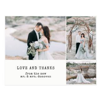 Ethereal Wedding | Thank You 3 Photo Postcard