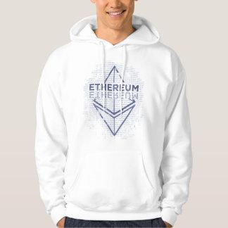 Ethereum Binary Grunge original blue Hoodie