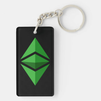 Ethereum Classic Logo Symbol Crypto Coin Keychain