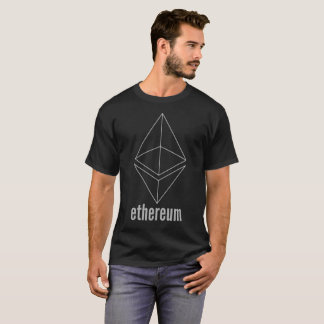 Ethereum ETH Space Grey Cryptocurrency T-Shirt