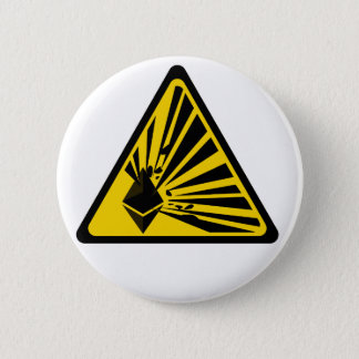 Ethereum Explosion Risk - 2¼ Inch Round Button