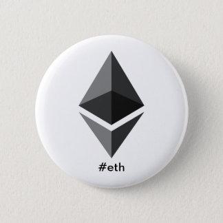 Ethereum Logo Hashtag Button