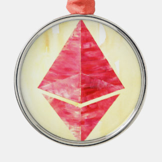 Ethereum Metal Ornament