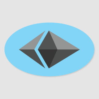 Ethereum Oval Sticker