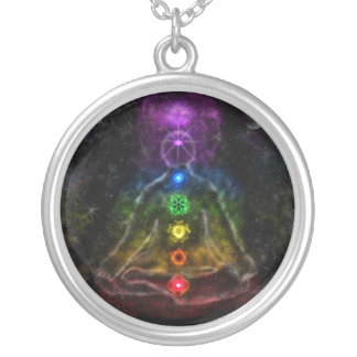 ETHERIC AURA CHAKRA SILVER PLATED NECKLACE