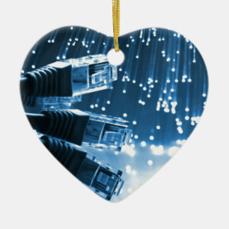Ethernet Connector Ceramic Heart Decoration