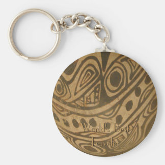 Ethic Museum Bowl Design Basic Round Button Key Ring