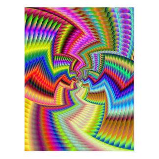 Ethincally Funky Colours Postcard