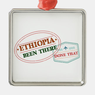 Ethiopia Been There Done That Metal Ornament