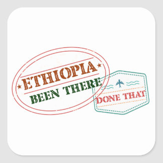 Ethiopia Been There Done That Square Sticker