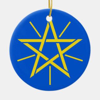 ETHIOPIA-  Ceramic Christmas Ornament