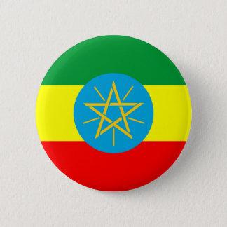 ethiopia country flag long symbol 6 cm round badge