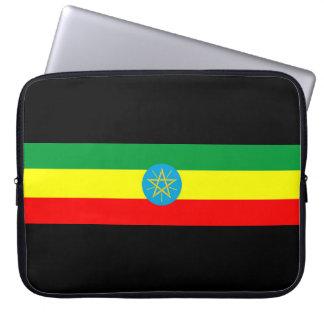 ethiopia country flag long symbol laptop sleeve