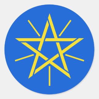 ethiopia emblem classic round sticker