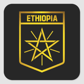 Ethiopia Emblem Square Sticker