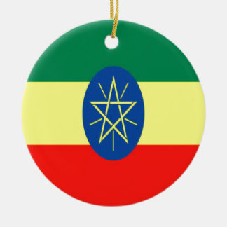 Ethiopia faith and hope ceramic ornament