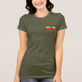 Ethiopia Flag and Map dk T-Shirt