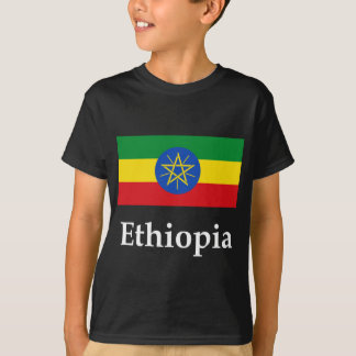Ethiopia Flag And Name T-Shirt