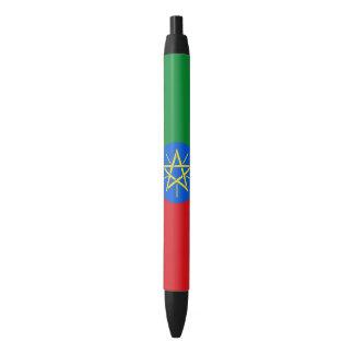 Ethiopia Flag Black Ink Pen