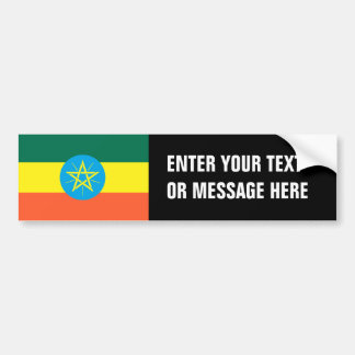 Ethiopia Flag Bumper Sticker