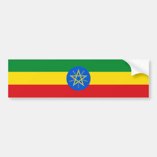 Ethiopia Flag Bumper Sticker