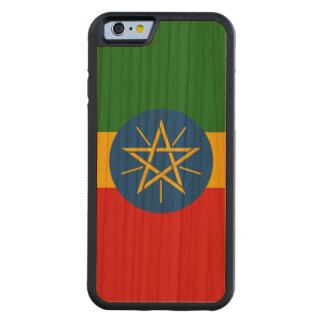 Ethiopia Flag Carved Cherry iPhone 6 Bumper Case
