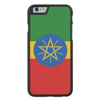 Ethiopia Flag Carved Maple iPhone 6 Case