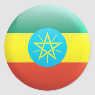 Ethiopia Flag Classic Round Sticker