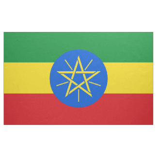 Ethiopia Flag Fabric