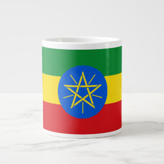 Ethiopia Flag Giant Coffee Mug